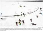 巨大回転アイスリンクを手作り! 直径130メートル超え ※海外サイト「Bangor Daily News」スクリーンショット