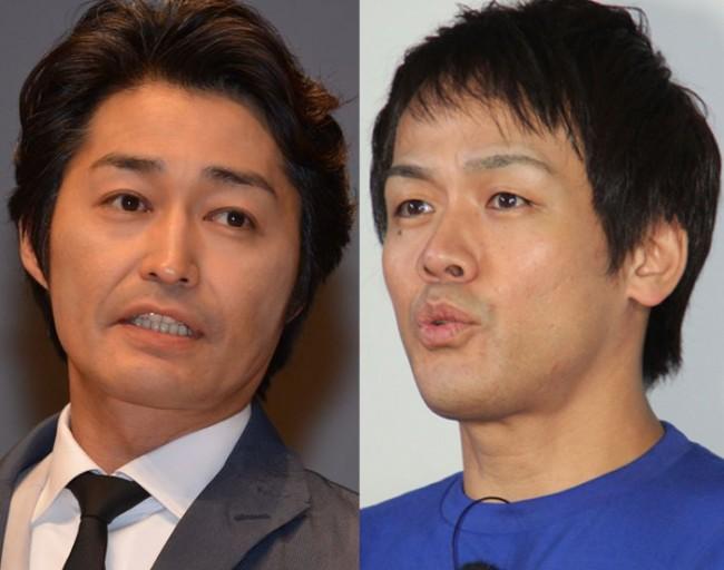 『下町ロケット』に出演する(左から)安田顕、森崎博之