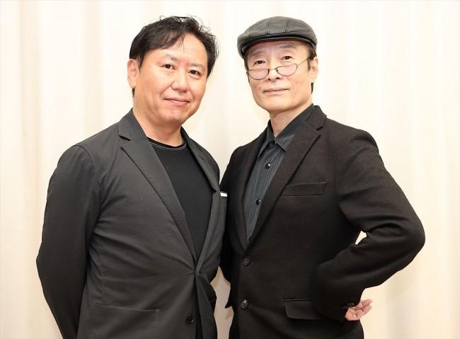 (左から)武内英樹監督&原作者・魔夜峰央、映画『翔んで埼玉』インタビュー