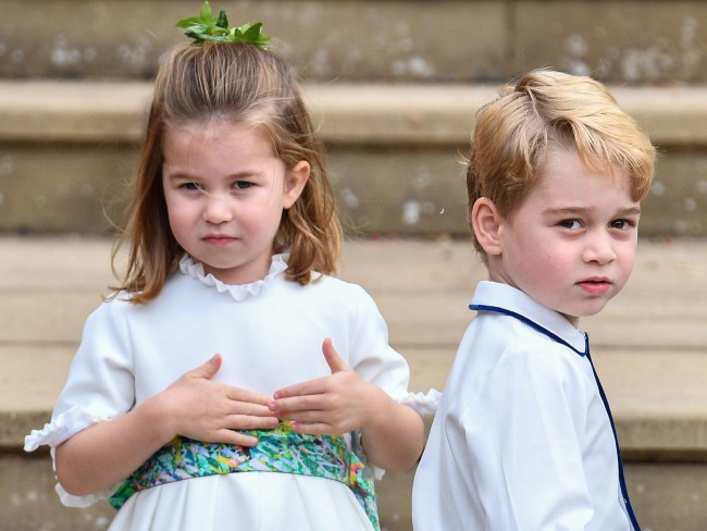 ジョージ王子、シャーロット王女、Princess Charlotte、Prince George、12/10/2018、The wedding of Princess Eugenie of York and Jack Brooksbank