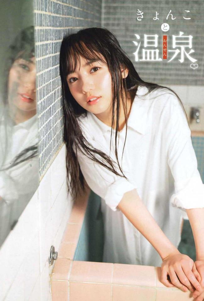 「週刊少年チャンピオン」25号に登場した日向坂46・齊藤京子