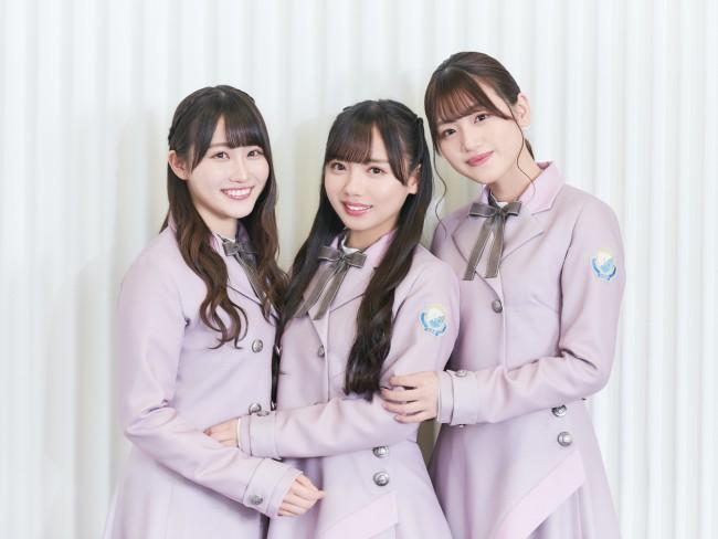 20200801(左から)日向坂46・潮紗理菜、齊藤京子、佐々木美玲