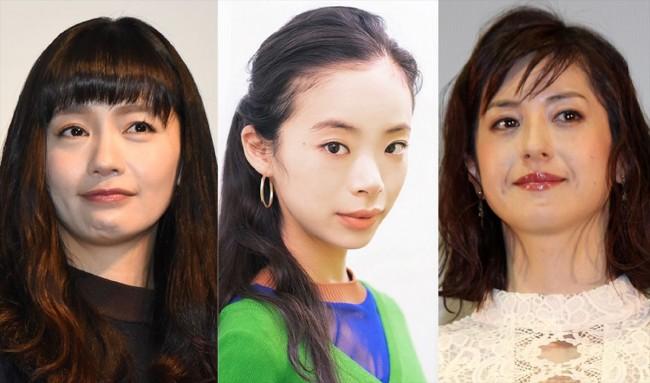 (左から)中村ゆり、趣里、松本若菜