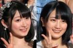 卒業延期を発表したJuice=Juice・宮本佳林(左)とアンジュルム・船木結(右)