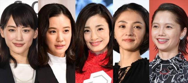 (左から)綾瀬はるか、蒼井優、上戸彩、満島ひかり、宮崎あおい