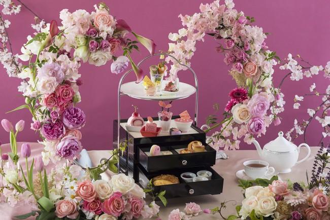 春の花々が彩るアフタヌーンティー開催!