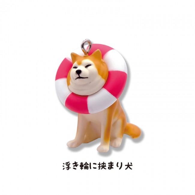 「挟まり犬 ボールチェーンマスコット3」