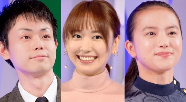 (左から)菅田将暉、新垣結衣、清原果耶
