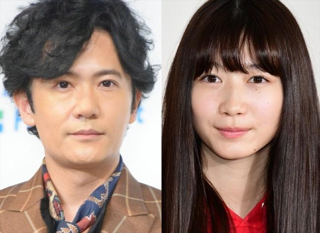 (左から)稲垣吾郎、岡本夏美