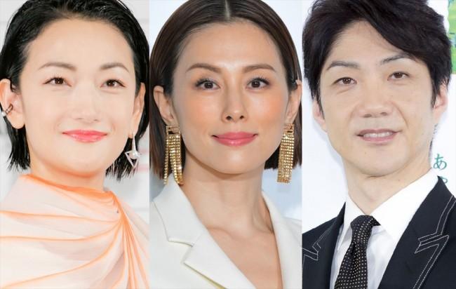 (左から)冨永愛、米倉涼子、野村萬斎